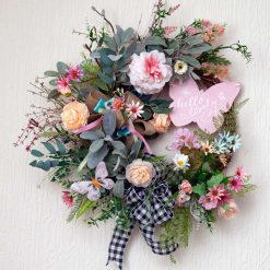 Hello Lovely - Large Sized Custom Artificial Wreath Available to Buy Now