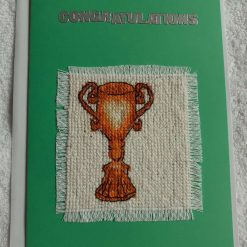 Lets celebrate cross stitch football card