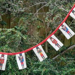 Bunting garland.  Toy soldiers design.  For Christmas or anytime.