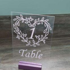 Stylish acrylic wedding table numbers