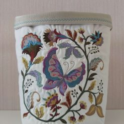 Fabric Basket Caddy - Quilted Desktop Container - FREE DELIVERY