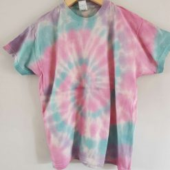 Tie dye t-shirt - pink, blue and purple age 9-11