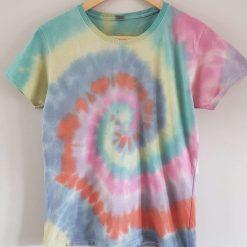 Tie dye t-shirt - rainbow swirl age 14-15 / 164cm