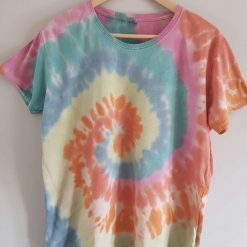 Tie dye t-shirt - multi coloured XL ladies fit