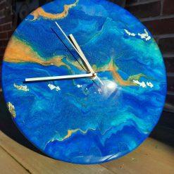 Handmade wall art clock resin