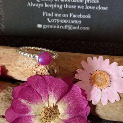 Ellie heart ring memorial cremation jewellery keepsakes