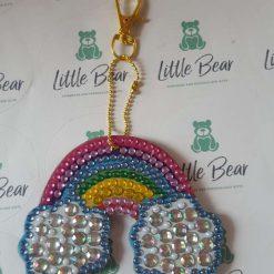 Diamond Art Rainbow Bag Charm