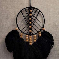 Black Crochet Design Dreamcatcher