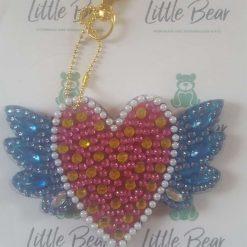 Winged Heart keychain/bag charm