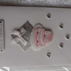 Handmade wedding wishes cake card