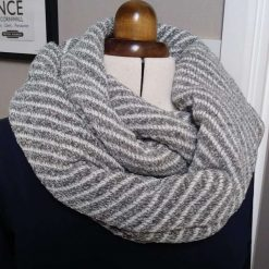 B Striped Infinity Scarf Hand crafted and designed
