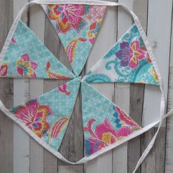 Bunting garland. Boho retro vibrant colours teachers gift