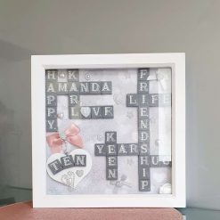 Personalised Scrabble Art Box Frame Any Occasion!