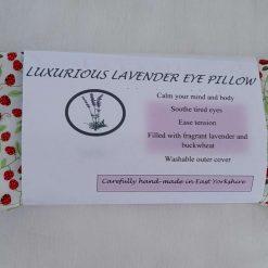 Fragrant Yorkshire lavender eye pillow. Bee print fabric