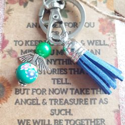 Angel Keepsake Keyring Wallet Card Gran