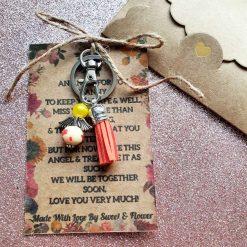 Angel Keepsake Keyring Wallet Card For You Nanny