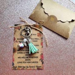 Angel Keepsake Keyring Wallet Card Nana