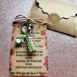 Angel Keepsake Keyring Wallet Card Grandma
