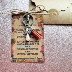 Angel Keepsake Keyring Wallet Card Aunt / Auntie