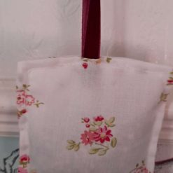 Lavender bag/hanging pouch. Calming and relaxing Vintage rose fabric
