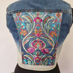 Customised denim waistcoat