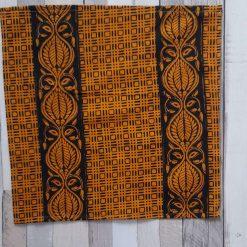 Large handkerchief. Handmade in eco friendly hand block printed cotton 30cms Yellow