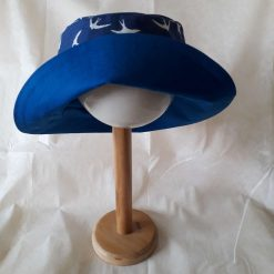 Swallows/Royal Blue Reversible Cotton Sun Hat
