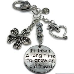 It Takes a Long Time to Grow an Old  Friend Bag Charm