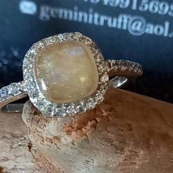 Diana Cushion ring memorial jewellery