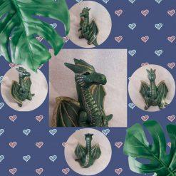 Hand painted ceramic dragon money box