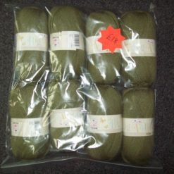 8 x 100g king cole big value 4ply - olive