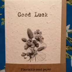 Wildflower seed paper cards | A6 recyclable | You will Bee missed | eco-friendly | biodegradable | leaving card