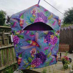 Fully lined peg bag - Hummingbird design