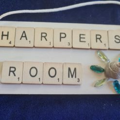 sea glass and shell door plaques