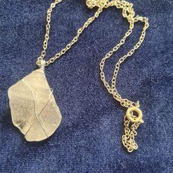 sea glass necklace (white)