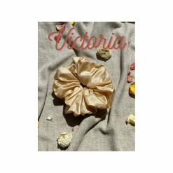 Oversized Victoria Hair Scrunchie (Gold)