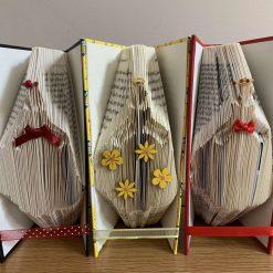 Folded book art - princess