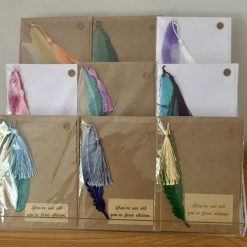 Birthday Card with Removable Resin Feather Bookmark Gift