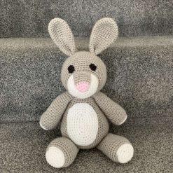 Handmade Crochet Rabbit Weighted Doorstop or Bookend
