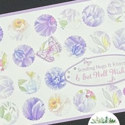 Handmade Any occasion card friends like you are rare and few Hare Rabbit Lilac flowers beautiful free post