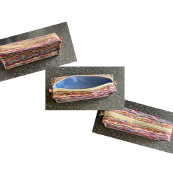 Pencil/ make up case, strips