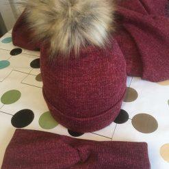 Handmade hat and headband bundle
