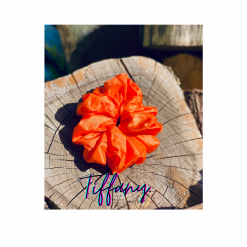 Oversized Tiffany Hair Scrunchie (Orange)
