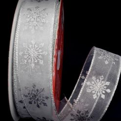 Wired Edge Christmas Ribbon