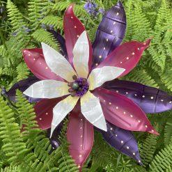 Upcycled single use plastic bottle flower