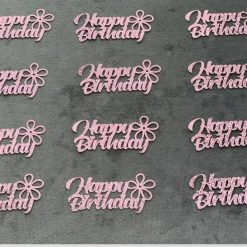 Happy birthday cupcake toppers 10pk
