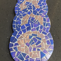 Quirky mosaic coasters