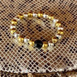 Vintage style bead Thumb Ring