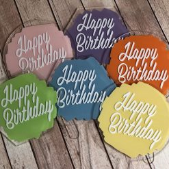Happy Birthday Cake Topper | Acrylic Cake Topper | Hexagon Cake Topper | Circle Cake Topper