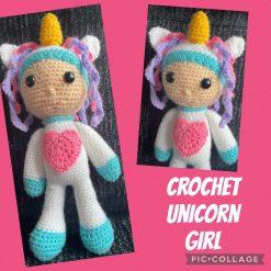 Crochet Unicorn Girl